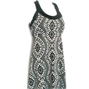 PrAna Cali Racerback Geo Print Dress Scoop Neck M